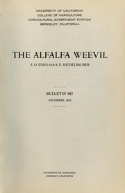 Cover of: The alfalfa weevil