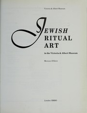 Cover of: Jewish ritual art in the Victoria & Albert Museum | Michael E. Keen