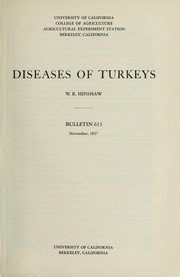 Cover of: Diseases of turkeys