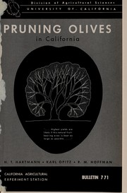 Cover of: Pruning olives in California