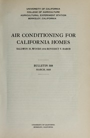 Cover of: Air conditioning for California homes