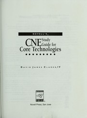 Cover of: Novell's CNE studyguide for core technologies