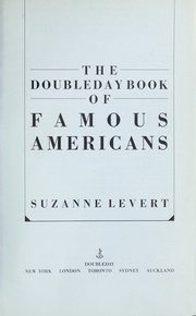 Cover of: Doubleday Book of Famous Americans, The