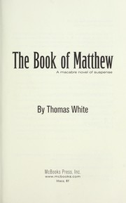 Cover of: The book of Matthew | Thomas White