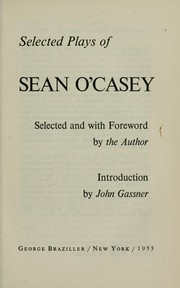 Cover of: Selected plays of Sean O'Casey | Sean O'Casey
