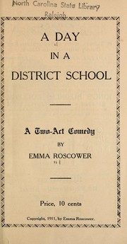 Cover of: A day in a district school