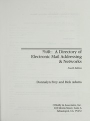 Cover of: !%@:: a directory of electronic mail addressing & networks | Donnalyn Frey