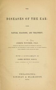 Cover of: The diseases of the ear