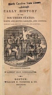 Cover of: The early history of the southern states