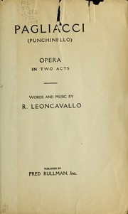 Cover of: Pagliacci (Punchinello) | Ruggiero Leoncavallo