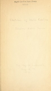 Cover of: Sketches of North Carolina