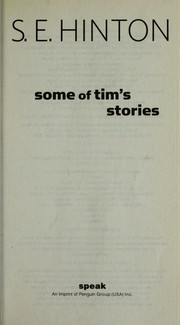 Cover of: Some of Tim's stories