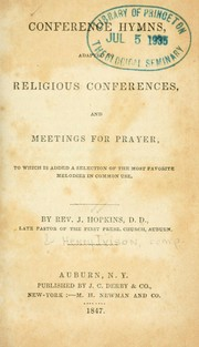 Cover of: Conference hymns | Josiah Hopkins