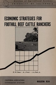 Cover of: Economic strategies for foothill beef cattle ranchers | Gerald W. Dean