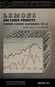 Cover of: Lemons and lemon products