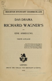 Cover of: Das Drama Richard Wagner's