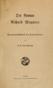 Cover of: Der Roman Richard Wagners