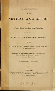 Cover of: The identification of the artisan and the artist