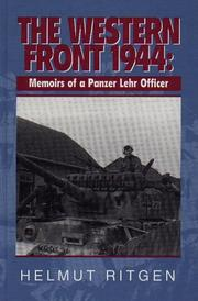 Cover of: The Western Front 1944, Memoirs of a Panzer Lehr Officer