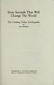 Cover of: Sixty seconds that will change the world by Peter Hadfield