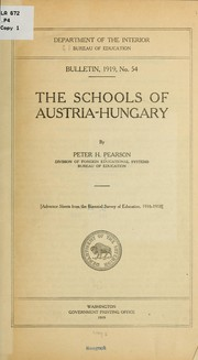 Cover of: The schools of Austria-Hungary