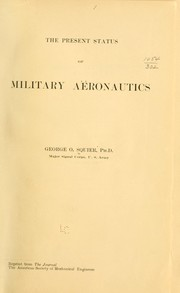 Cover of: The present status of military aëronautics