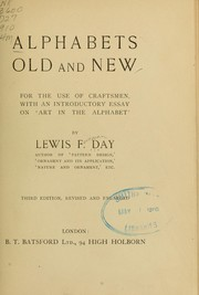 Cover of: Alphabets old and new, for the use of craftsmen