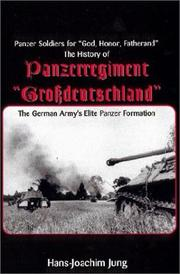 "Cover of: The History of Panzerregiment ""Grossdeutschland"""