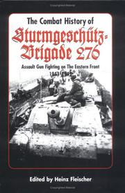 Cover of: The Combat History of Sturmgeschuetz-Brigade 276