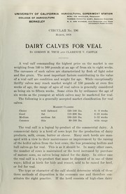 Cover of: Dairy calves for veal