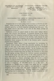 Cover of: Extending the area of irrigated wheat in California for 1918