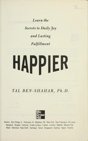Cover of: Happier by Tal Ben-Shahar
