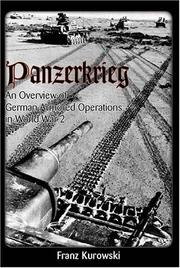 Cover of: Panzerkrieg: An Overview of German Armored Operations in World War 2