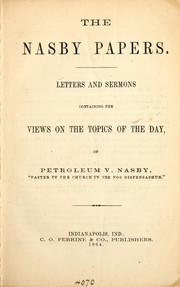Cover of: The Nasby papers