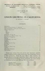Cover of: Onion growing in California