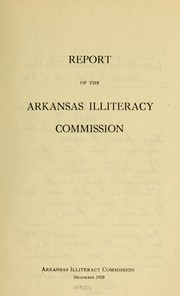 Cover of: Report...December 1920... | Arkansas. Illiteracy commission. [from old catalog]