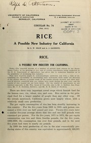 Cover of: Rice