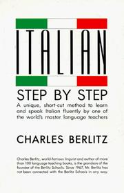Cover of: Italian step by step | Charles Berlitz