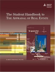 Cover of: The Student Handbook To The Appraisal of Real Estate