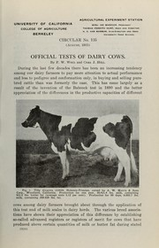 Cover of: Official tests of dairy cows | F. W. Woll