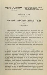 Cover of: Pruning frosted citrus trees