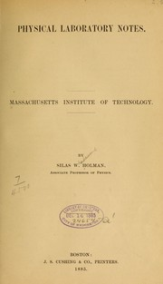 Cover of: Physical laboratory notes