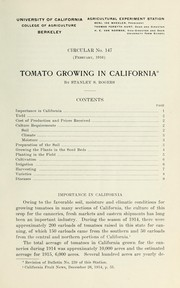Cover of: Tomato growing in California