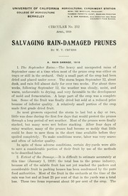 Cover of: Salvaging rain-damaged prunes