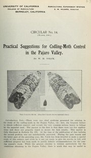 Cover of: Practical suggestions for codling-moth control in the Pajaro Valley