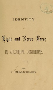 Cover of: Identity of light and nerve force