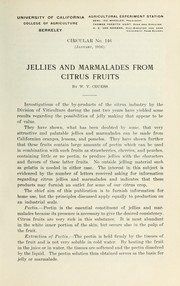 Jellies and marmalades from citrus fruits by W. V. Cruess