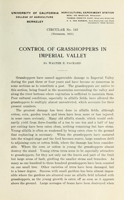 Cover of: Control of grasshoppers in Imperial Valley | Walter E. Packard