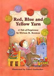 Red, blue, and yellow yarn