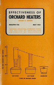 Cover of: Effectiveness of orchard heaters